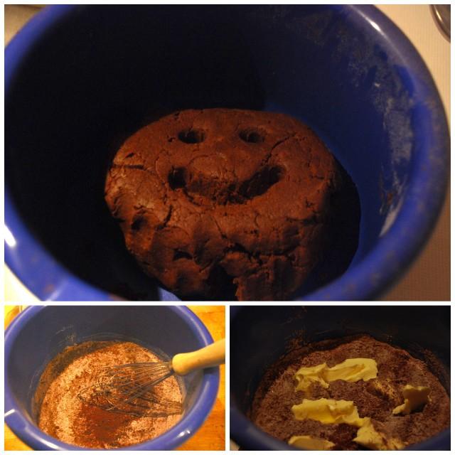 chocolate dough