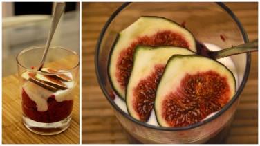 Easy fig & berry dessert