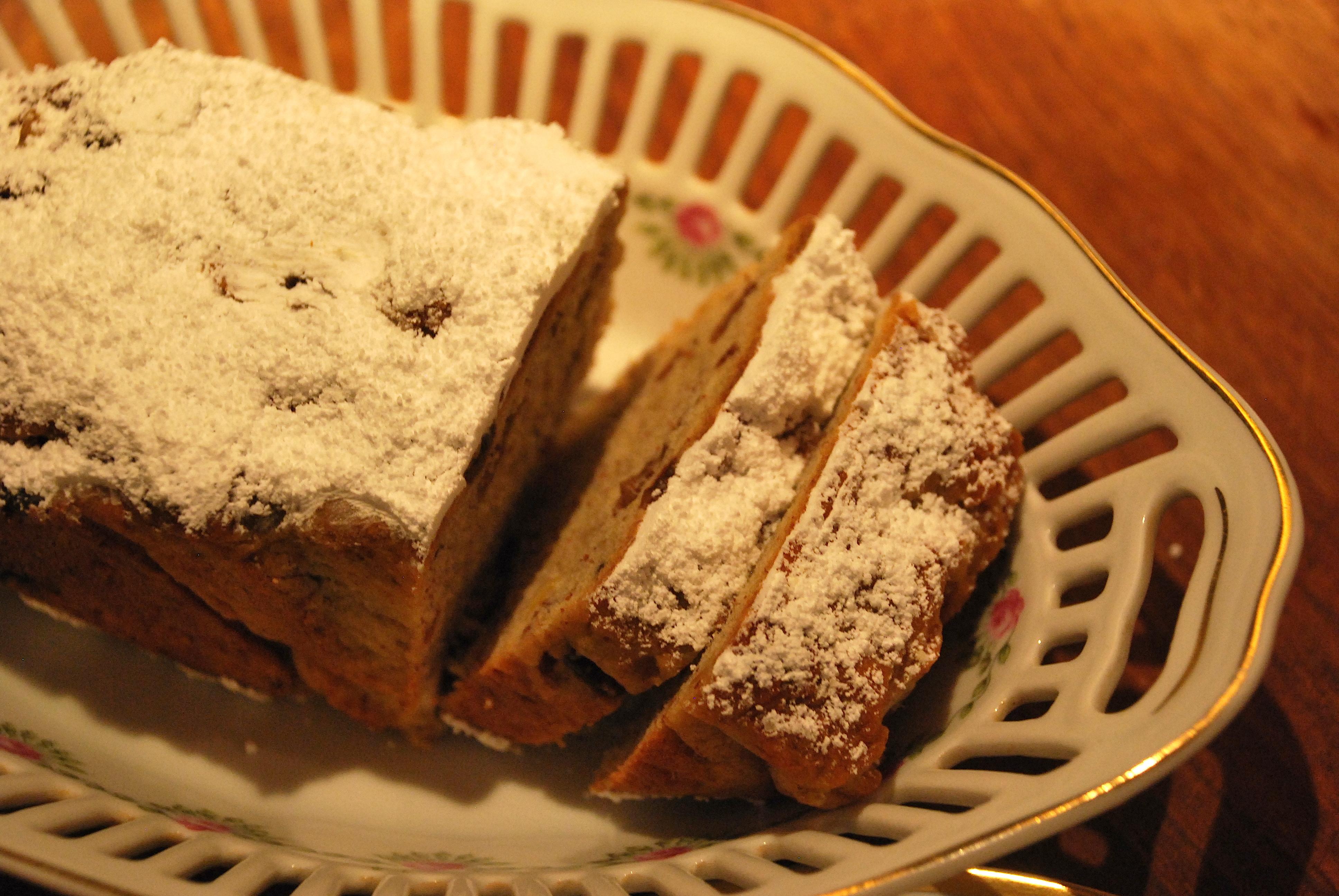 christstollen traditional german christmas cake